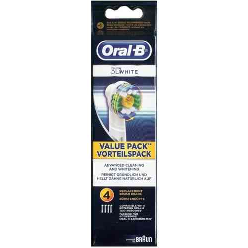 Braun Oral B 3D White replacement toothbrush Head Pack of 4