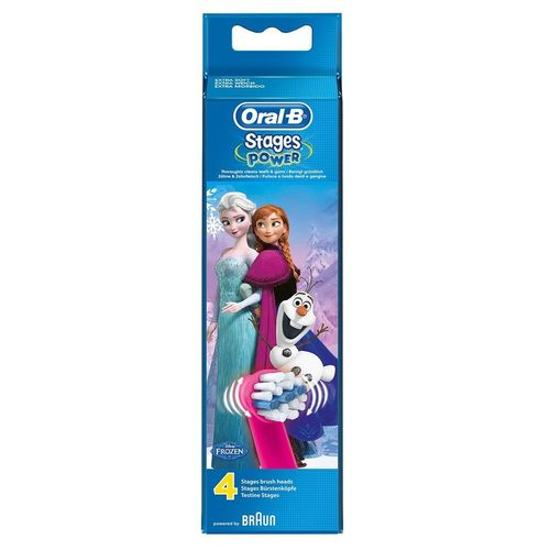 Braun Oral B Stages Power Kids Frozen Edition Pack of 4 Brush Heads
