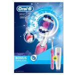 Braun Oral-B PRO 2 2500W Rechargeable Electric PINK Toothbrush with Bonus Travel Case