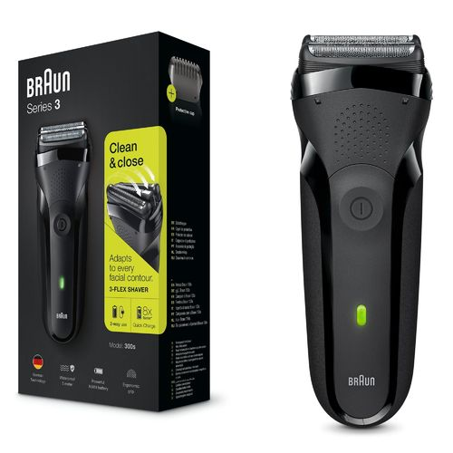 Braun Mens Series 3 Rechargeable electric shaver 300s